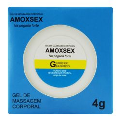 POMADA AMOXSEX CREME ANAL 4G  - GERÓTICO GENÉRICO              LIBY SEXSHOP